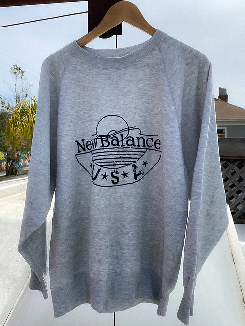 90s New Balance USA Thrashed Heather Crewneck L/XL