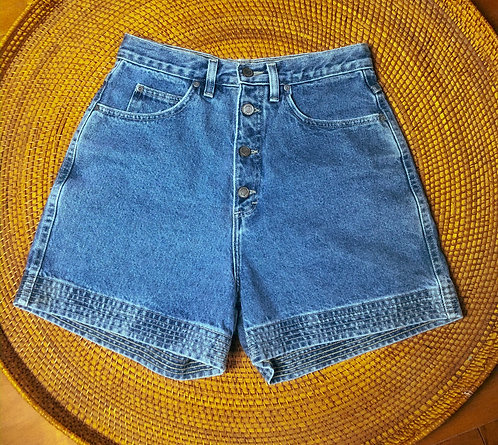 "29"" Vtg Honors Med Wash Detail Denim Shorts"
