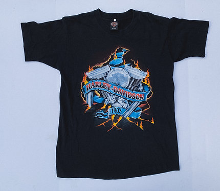 1996 Harley Flamin' Engine Tee L