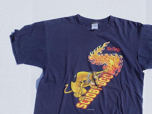 2000 Scooby Flamezzz Six Flags Tee L