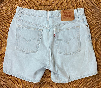 "32"" Levi's Bleach Wash Denim Shorts"