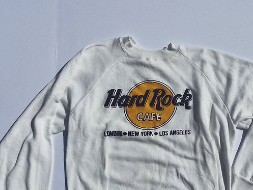 70's OG Hard Rock Puff Print Classic Crew WOW S-M