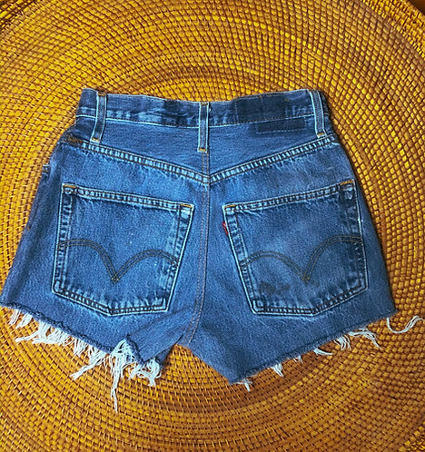 "26/27"" Vtg Levi's 501 Med Wash Denim Cutoffs"