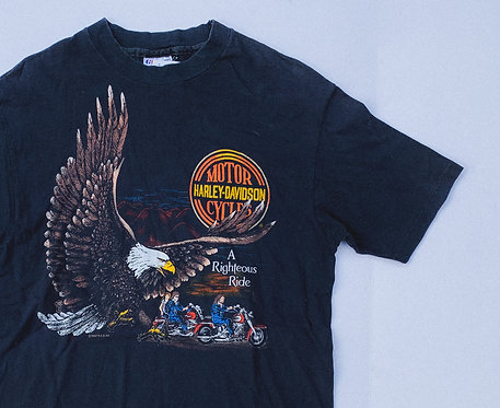 "80s Harley ""Righteous Ride"" Modesto Tee L"