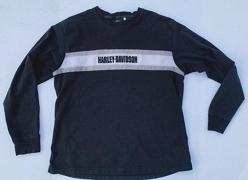 Harley Classic Chest Stripe Logo Crew L