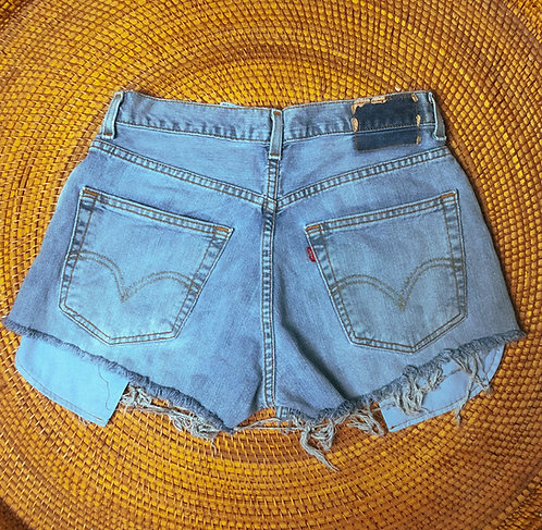 "31"" Y2K Levi's Super Fade Denim Cutoffs"