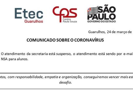 Comunicado - 24/03/2020