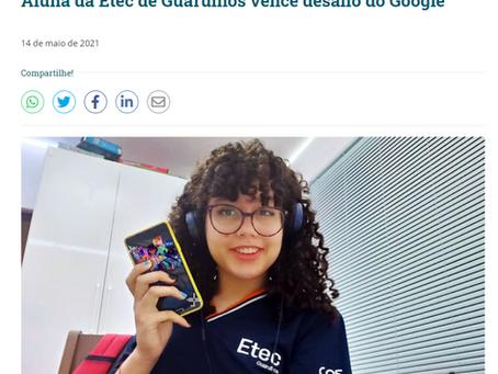 Aluna da Etec de Guarulhos vence desafio do Google