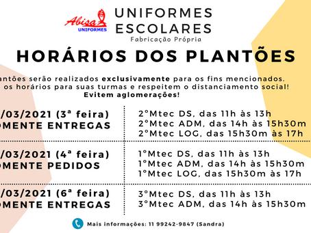 Plantões de Uniformes - 2021