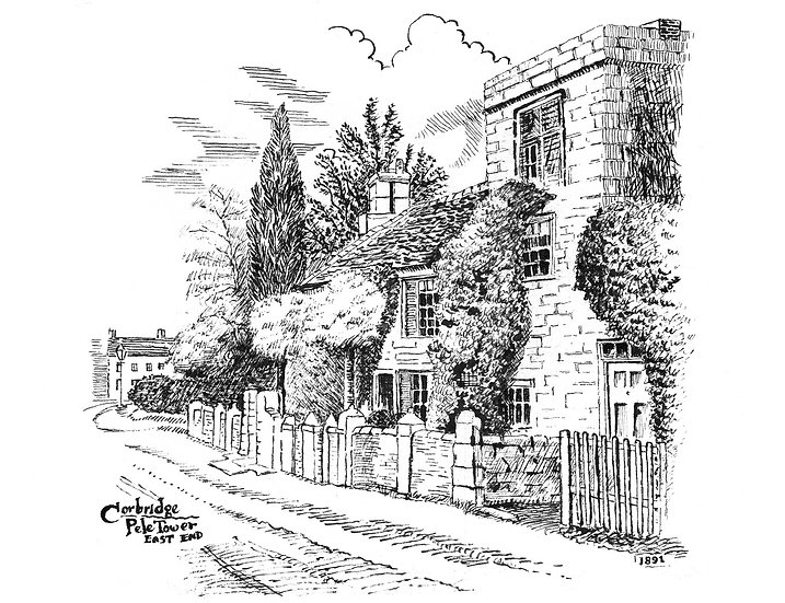 Corbridge Pele Tower Pen/ink