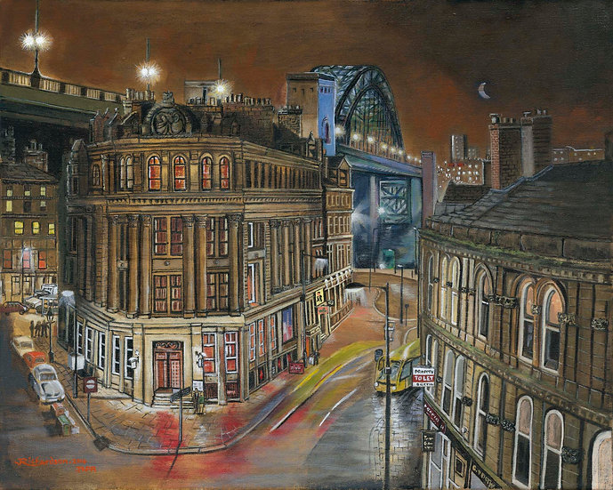 The Tyne Bridge from Dean Street