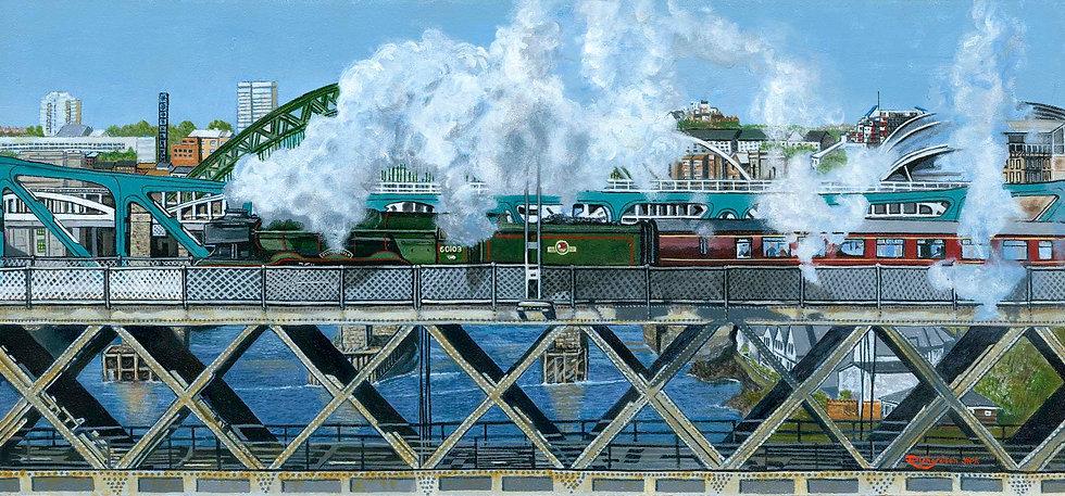 Flying Scotsman Crossing Tyne