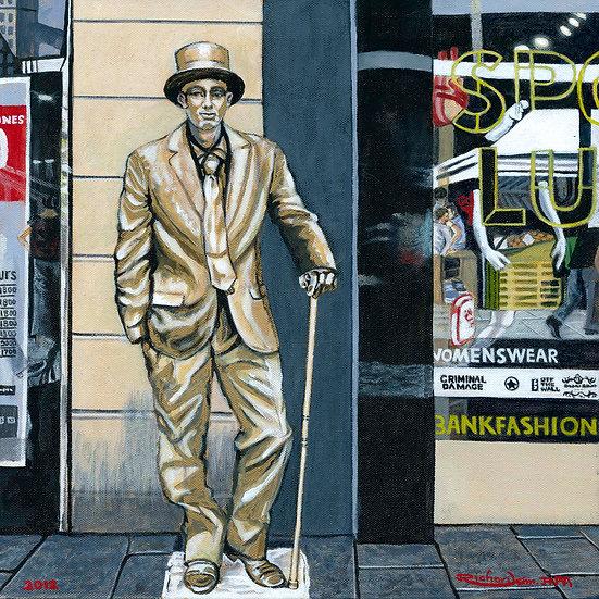 Living Statue Northumberland Street