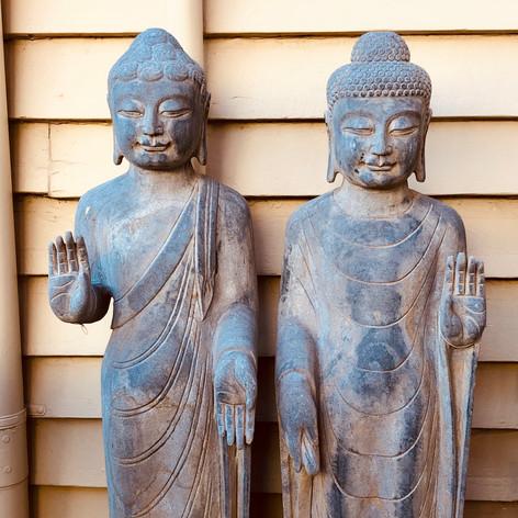 Stone standing Buddhas