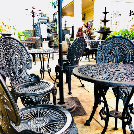 Iron Cast Table & Chairs