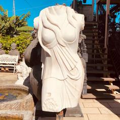 Rome style marble torso on base