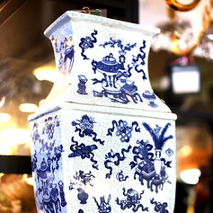 Chinese Blue & White Square Vase