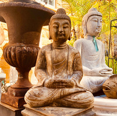 Stone sitting Buddha