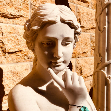 Marble lady statue