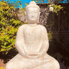 Marble sitting Buddha