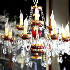 Ruby Colour Chandelier