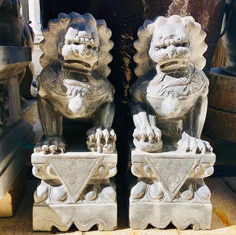 Pair stone lion (Fu-Dog)