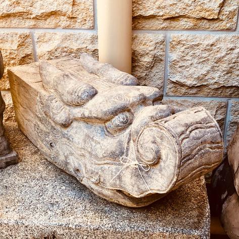 Stone dragon water spout