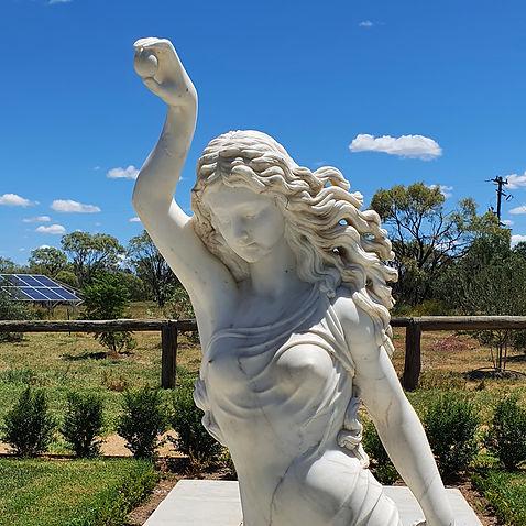Marble sculpture after restoration