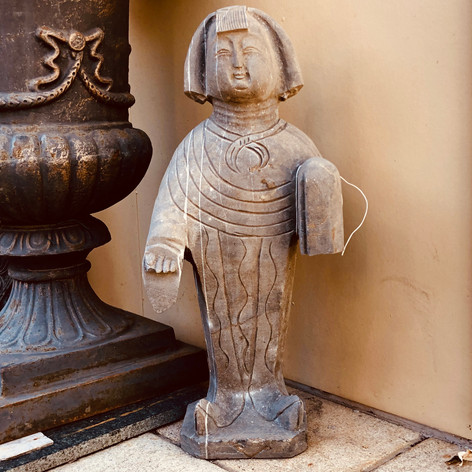 Craved stone tang lady statue