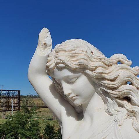 Marble sculpture before restoration