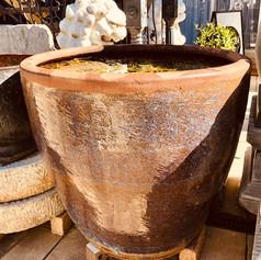 Multi-glazed water pot