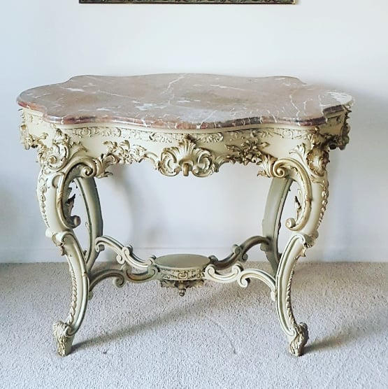 Crafted timber Console Table After Restoration