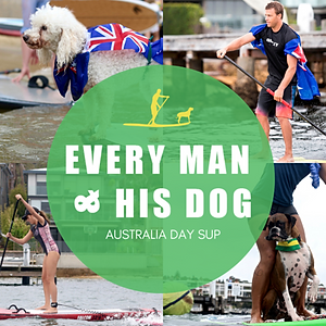 Every Man and His Dog Australia Day SUP