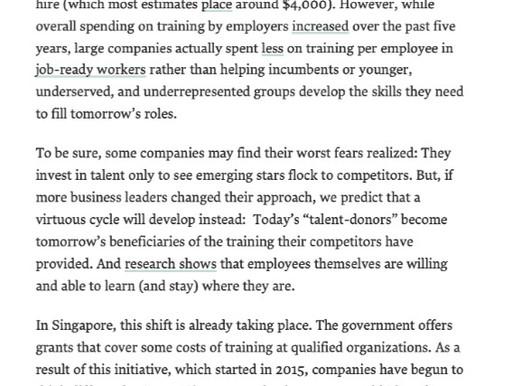 Harvard Business Review: Reskill e upskill seus funcionários, ao invés de contratar novos talentos.