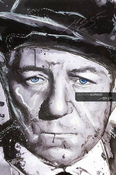 Jean Gabin - Portrait peinture