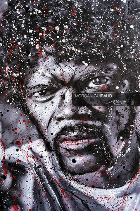 Samuel L Jackson as Jules Winnfield in Pulp Fiction Neo Pop Art portrait