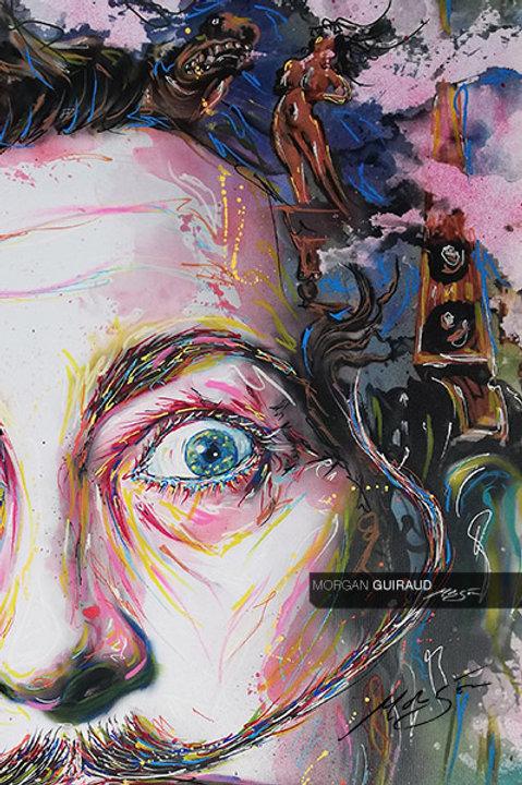 Salvador Dali Portrait Neo Pop Art Dalí - Hand finish Silkscreen Variant