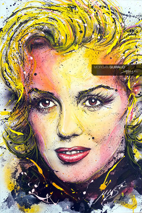Marilyn Monroe Neo-pop Art Painting Mixed Media