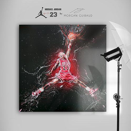 Michael Jordan Chicago Bulls Neo Pop Art - Hand finish Silkscreen Variant