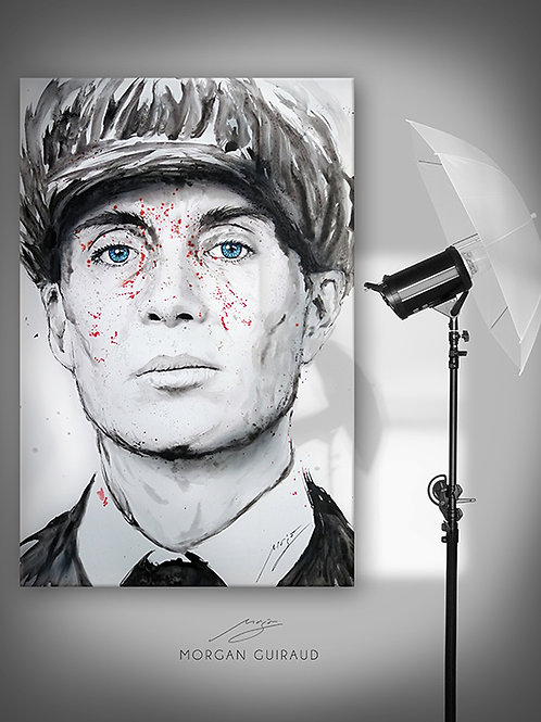 Thomas Shelby Peaky Blinders Cillian Murphy peinture portrait pop art