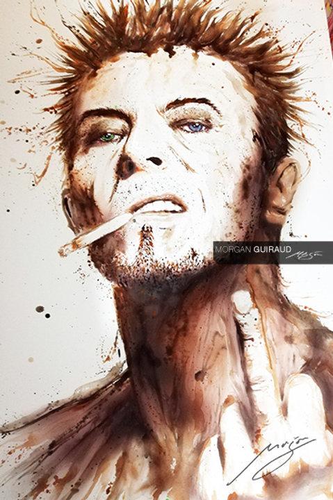 David Bowie finger neo pop art painting