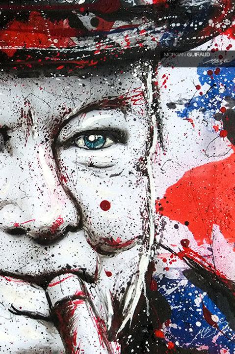 Sir Winston Churchill Neo Pop Art Painting
