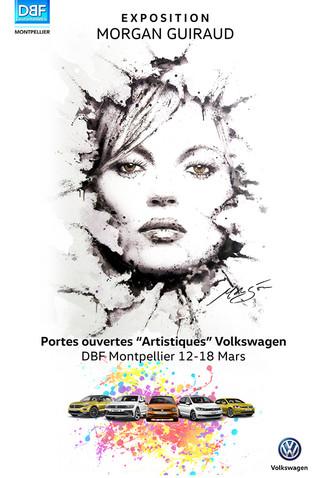 """Volkswagen expose Morgan Guiraud pour les Portes Ouvertes """"Artistiques"""" les Samedi 17 & Dimanche"""