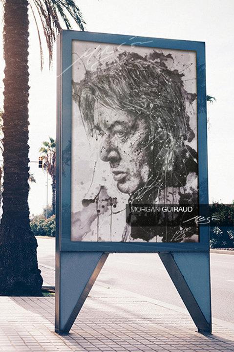 Alain Bashung - Portrait peinture Neopop