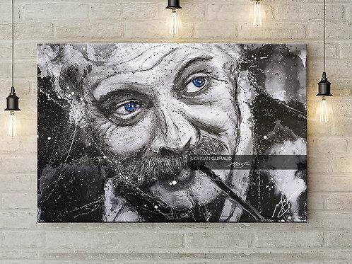 Georges Brassens - portrait peinture