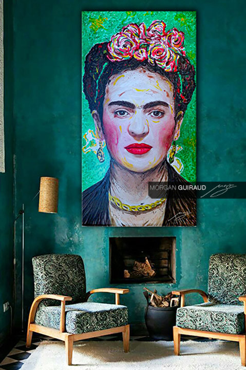 Frida Kahlo - Neo Pop Art painting - ORIGINAL