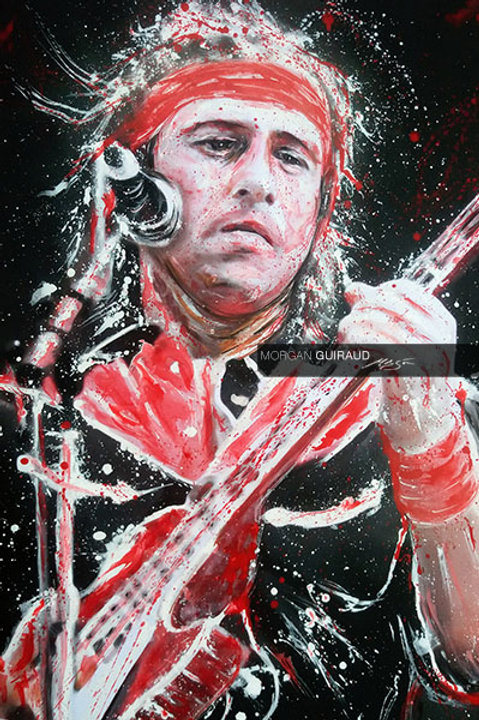 Mark Knopfler - Dire Straits Money for Nothing Painting