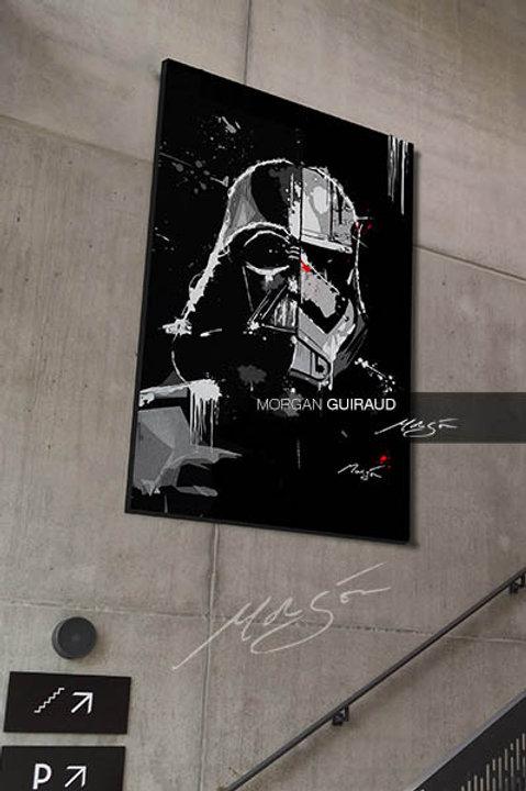 Star Wars Hybrid Dark Vador Stormtrooper Neo Pop Art
