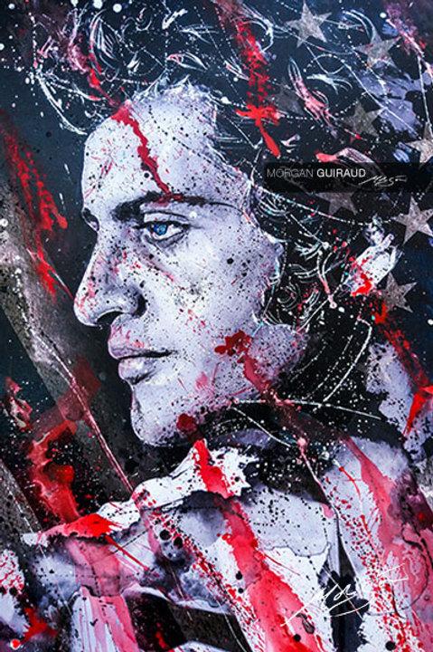 Joe Dassin | Mixed media neo pop art canvas