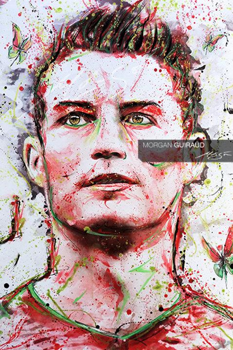 Cristiano Ronaldo - CR7 football legend - Neo Pop Art